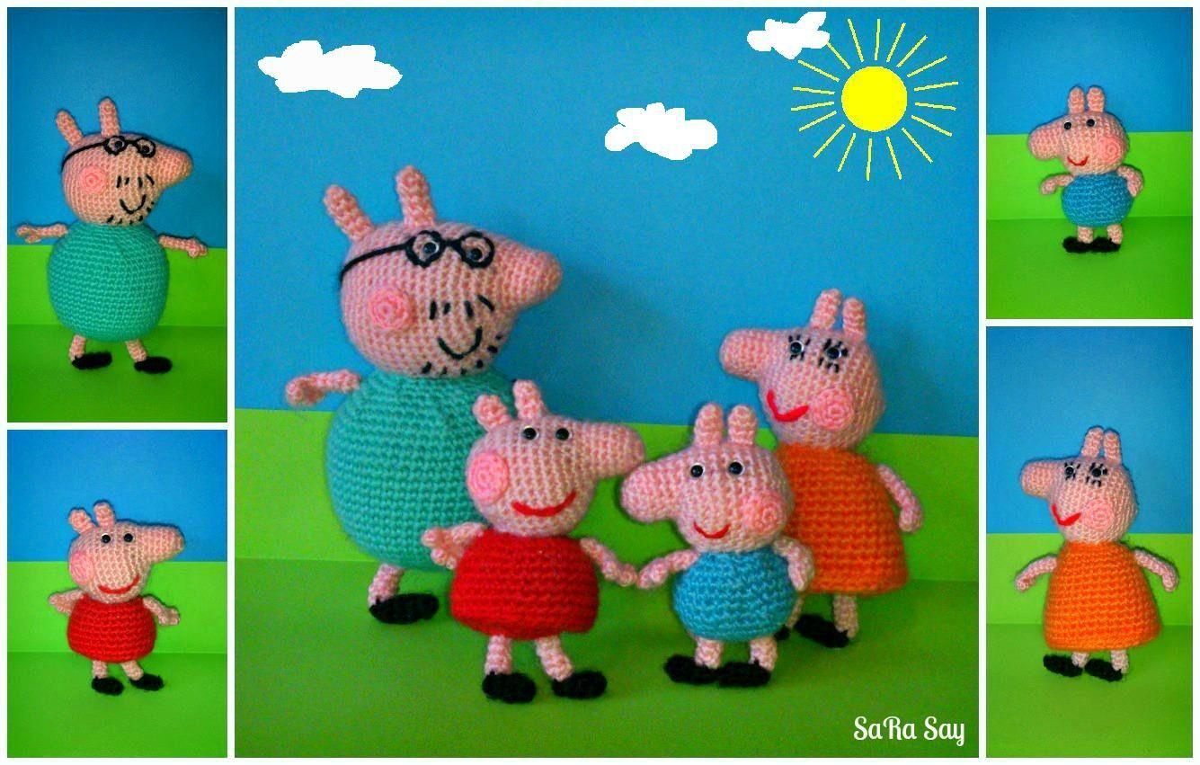 Crochet Peppa Pig Amigurumi Free Patterns | Schwein häkeln ... | 851x1335