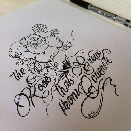 d1d563f172c60 Resultado de imagem para rose grew from concrete tattoo   tattoo ...