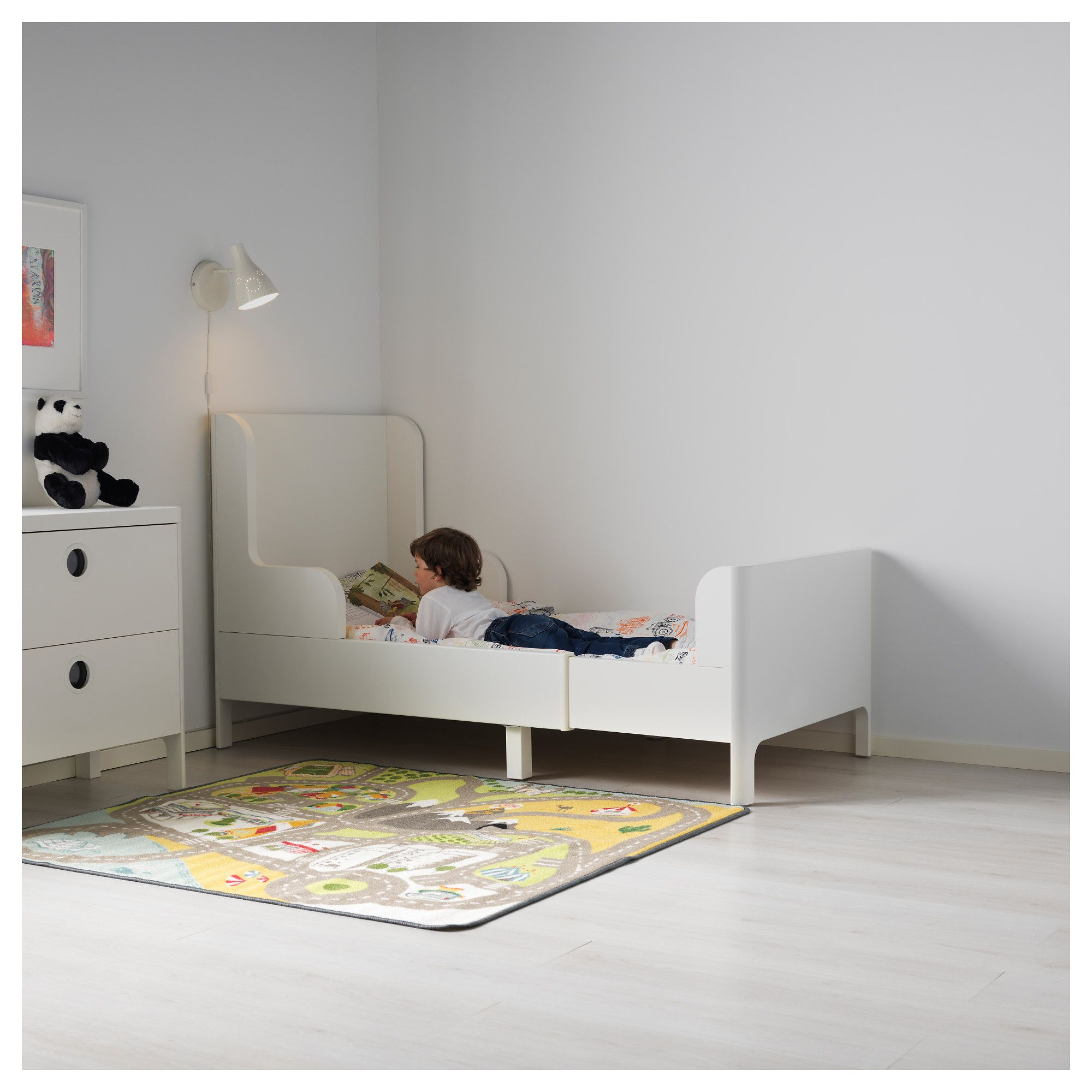 Ikea Kinderbett Busunge Ikea Busunge Extendable Bed White Products In 2019