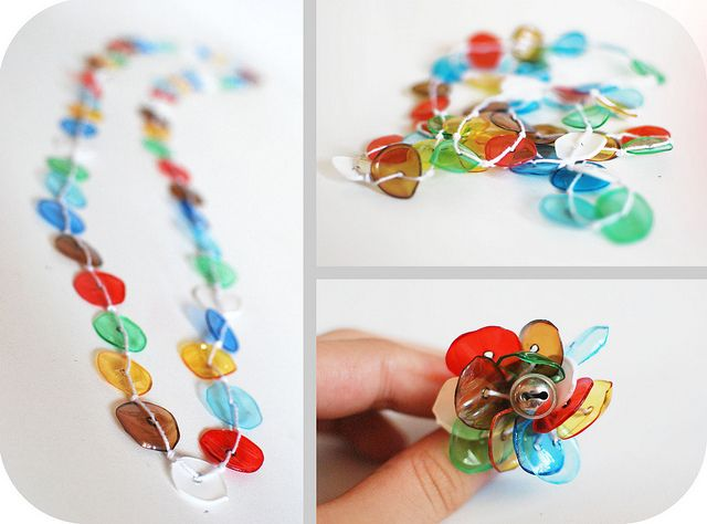 .PLASTIC BOTTLE PLASTIC BEADS