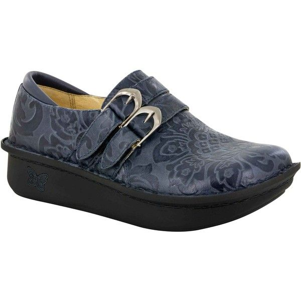 Alegria Women's Alli Yeehaw Navy Clogs & Mules ($130) ❤ liked on Polyvore  featuring