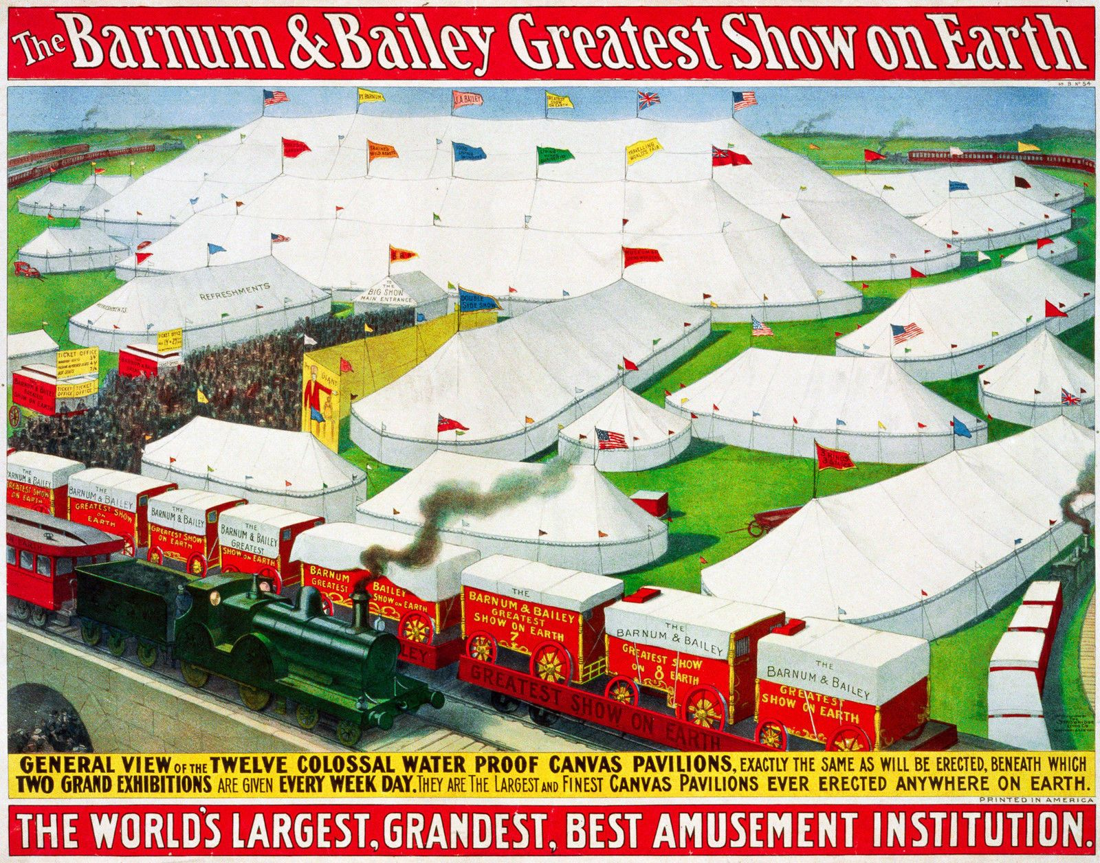 Barnum & Bailey Circus 1, Old Vintage Ad, Magic, Antique