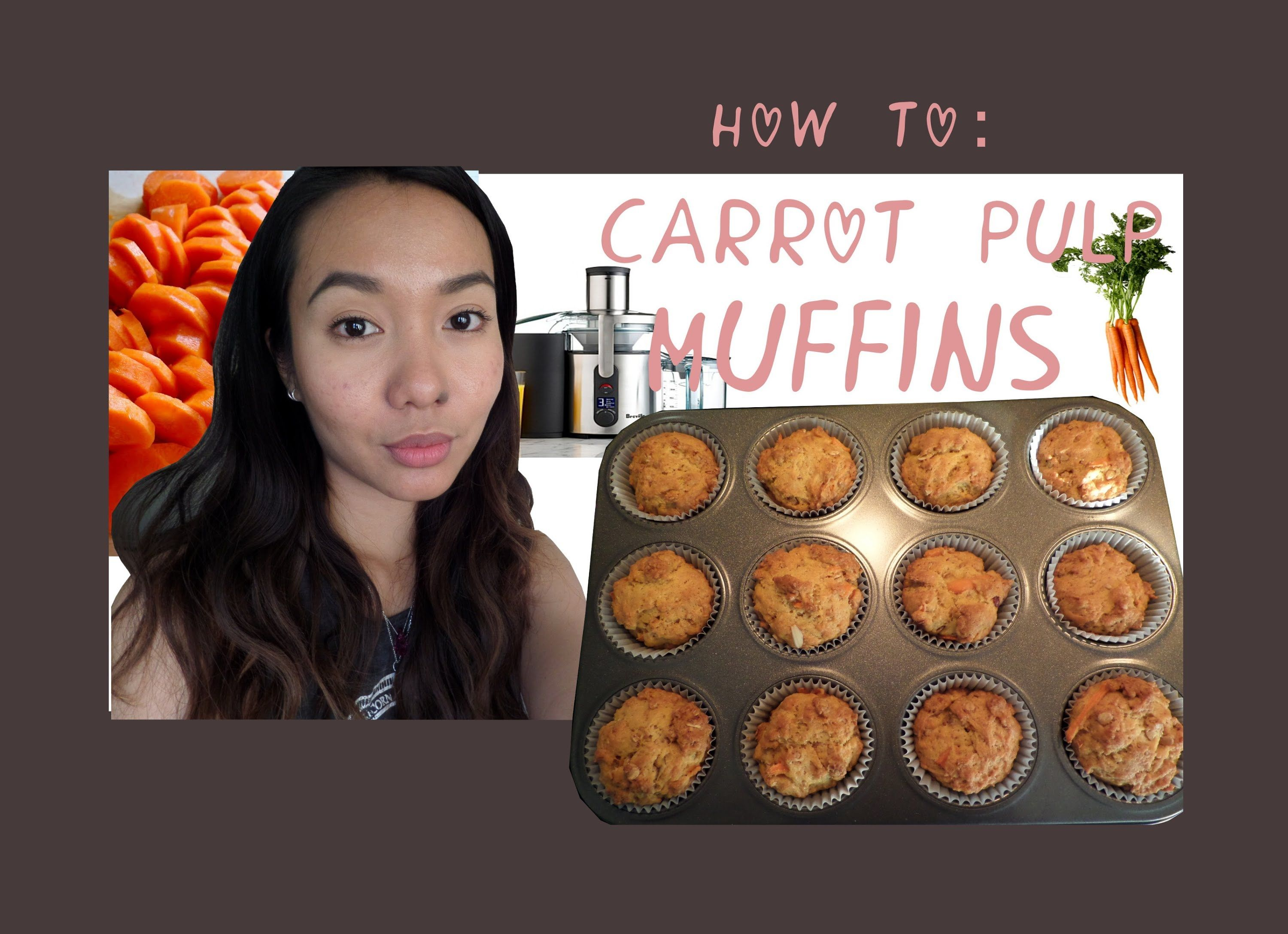 How to bake carrot muffins from carrot juice pulp baked