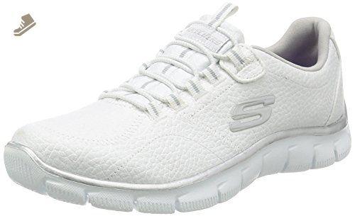 Skechers Empire-Take Charge, Zapatillas de Deporte Mujer, Beige (Taupe), 38
