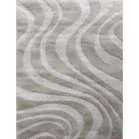 Carpet Art Deco Symetry Rectangular GrayTransitional Woven Area Rug  (Common: 8 Ft X