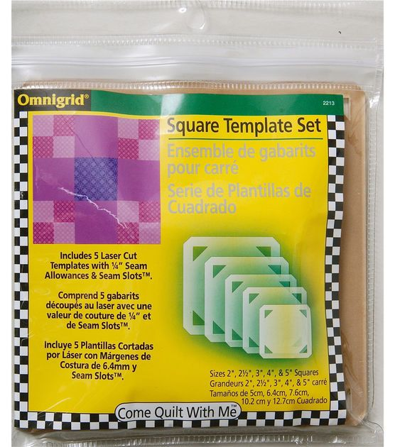 Back To Basics Squares Jo Ann Quilting Templates Sewing Supplies Joann