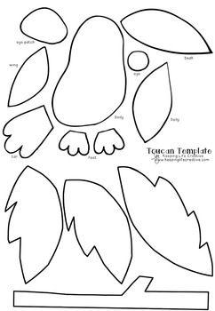 Toucan Craftivity Template Toucan Craft Rainforest Crafts