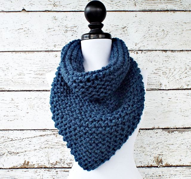 Free Knitting Patterns For Beginners Baby Blanket : Ravelry: Knit Bandana Cowl pattern by Diane Serviss Knitting Pinterest ...