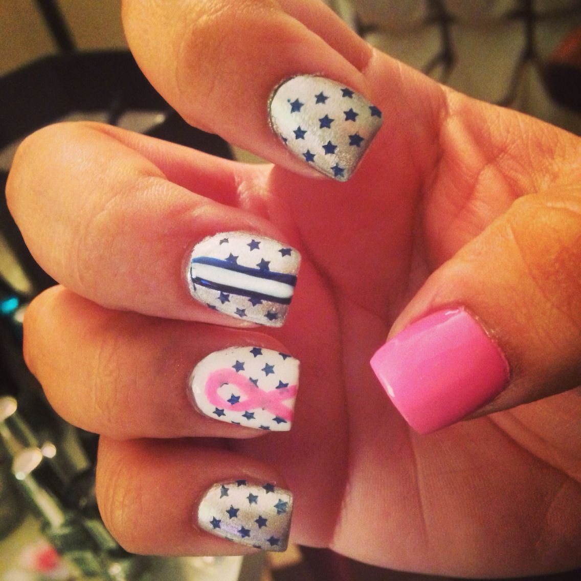 Supporting both Dallas cowboys and breast cancer awareness ...