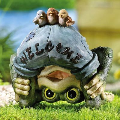 Frog Welcome Garden Statue Frog Statues Frog Pictures 400 x 300