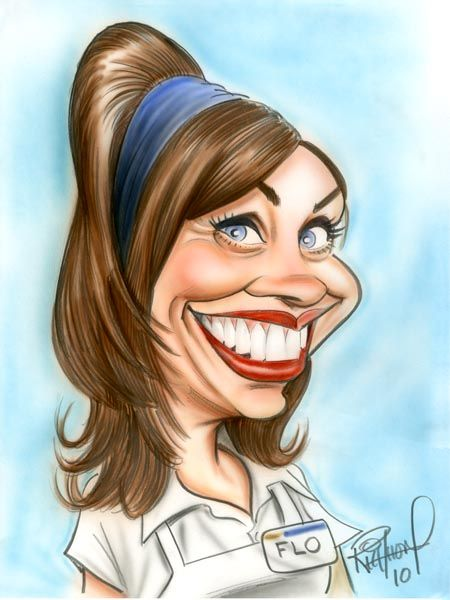 Flo from progressive the art of caricature caricaturas - Flo progressive wallpaper ...