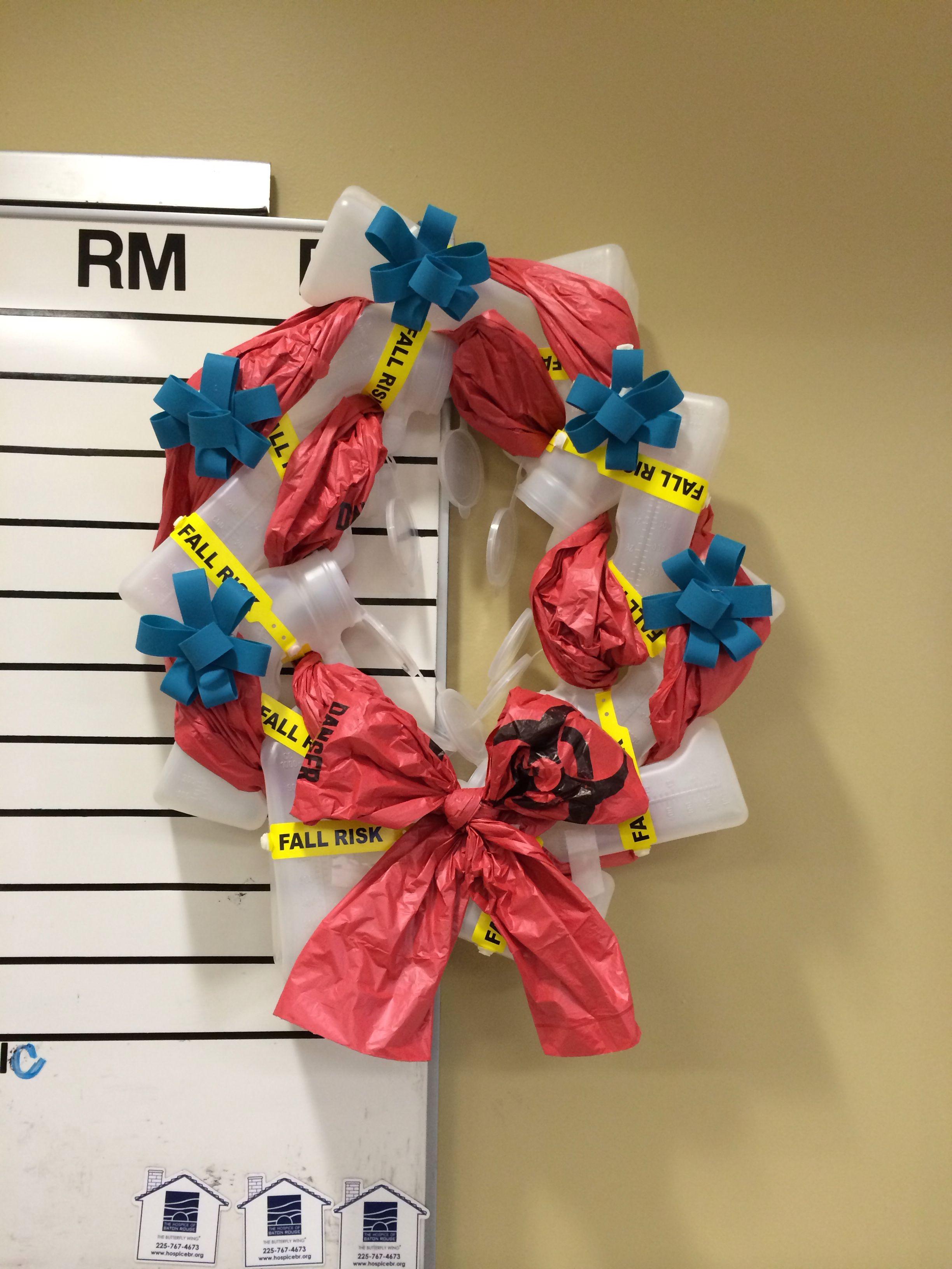 Urinal Wreath...life of an ER night nurse Nurse