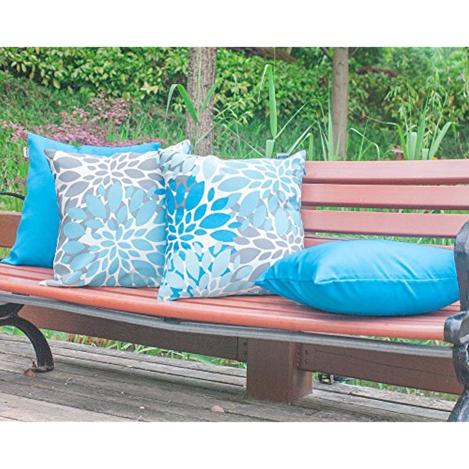 Vantextile 4pcs Furniture Decorate Pillow Cover 100 Polyester Outdoor Waterproof Cushion Set Invisible Zipper Safe And Comfortable Cushio Waterproof Cushions Outdoor Christmas Home