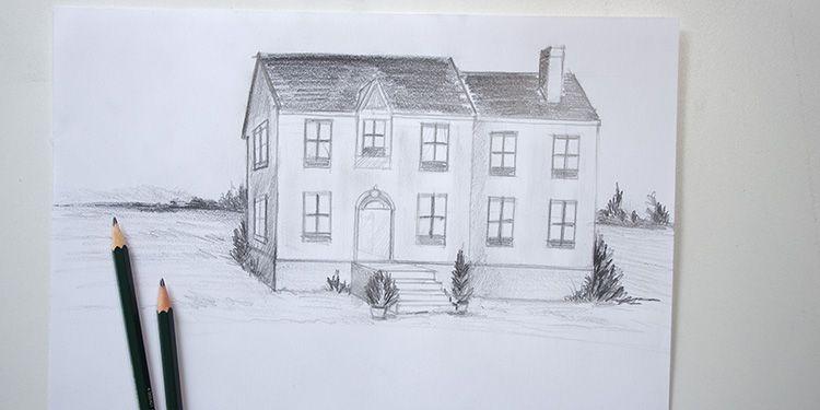 apprendre à dessiner une maison avec quelques bases de perspective - apprendre a dessiner une maison