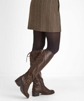 Sensational Lace Back Boots: A true