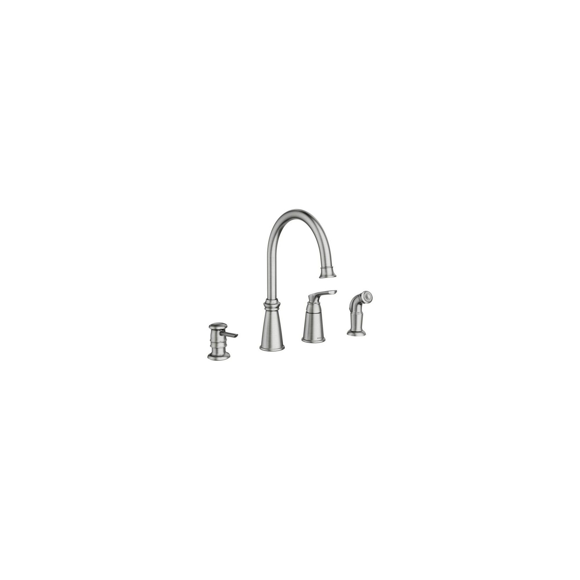 Moen 87044 Whitmore Single Handle High Arch Kitchen Faucet With