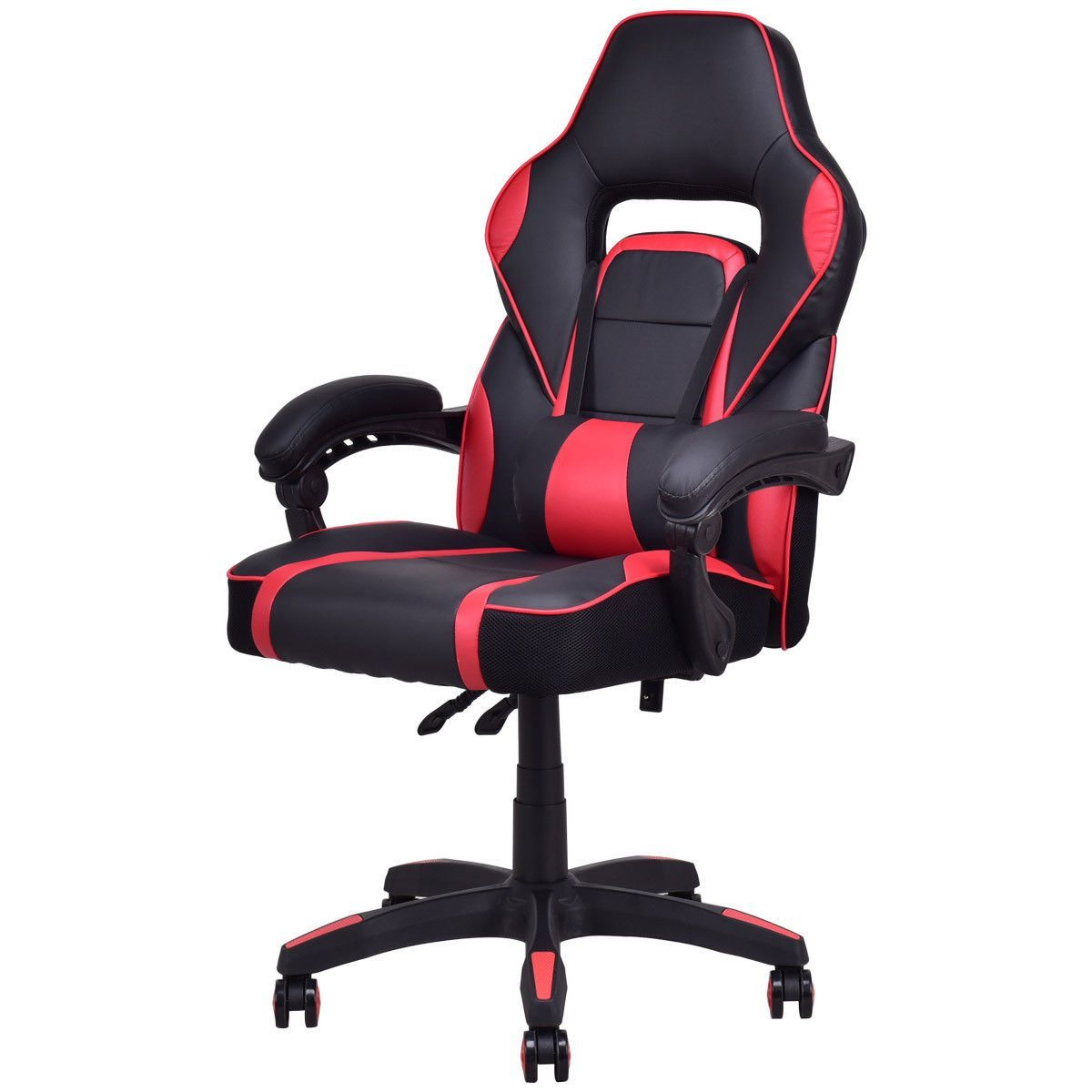 Executive High Back Racing Style Pu Leather Gaming Chair Red In 2020 Gaming Chair Game Development Company Pu Leather