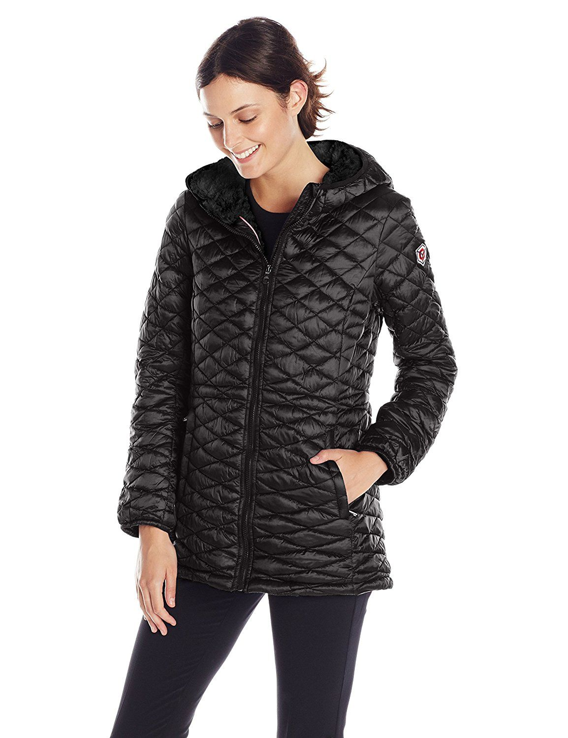 Steve Madden Women's Quilted Parka *** Check out this great