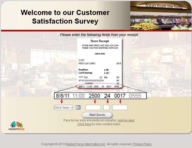 Safeway grocery customer satisfaction survey www