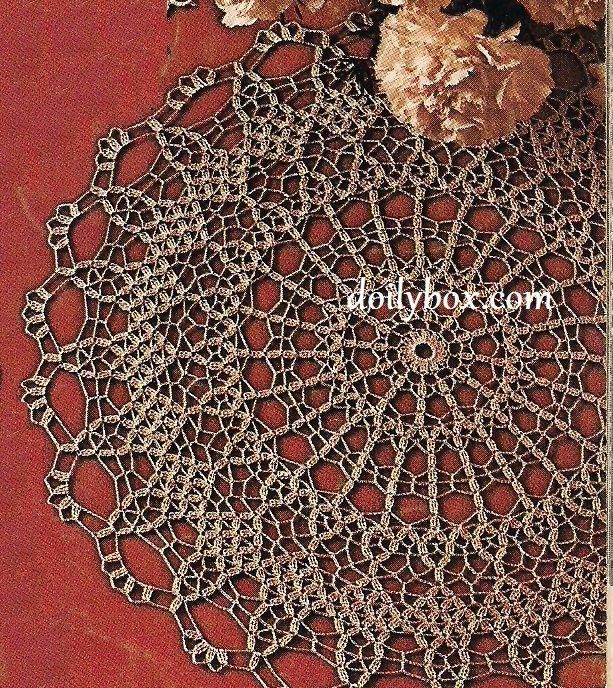 Free Crochet Brocade Doily Pattern Crochet Pinterest Free