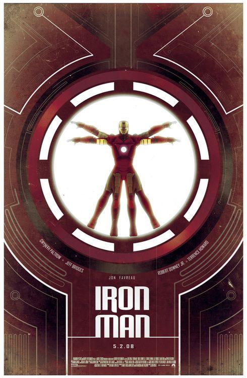 IRON MAN Movie PHOTO Print POSTER Textless Film Art Robert Downey Jr Marvel 006