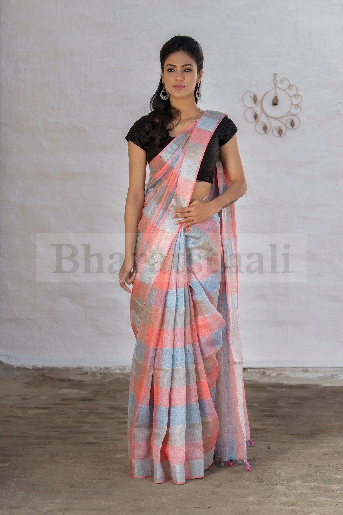 793db4255c Super Soft Linen Sarees That You Can Wear Everyday in Summer • Keep Me  Stylish