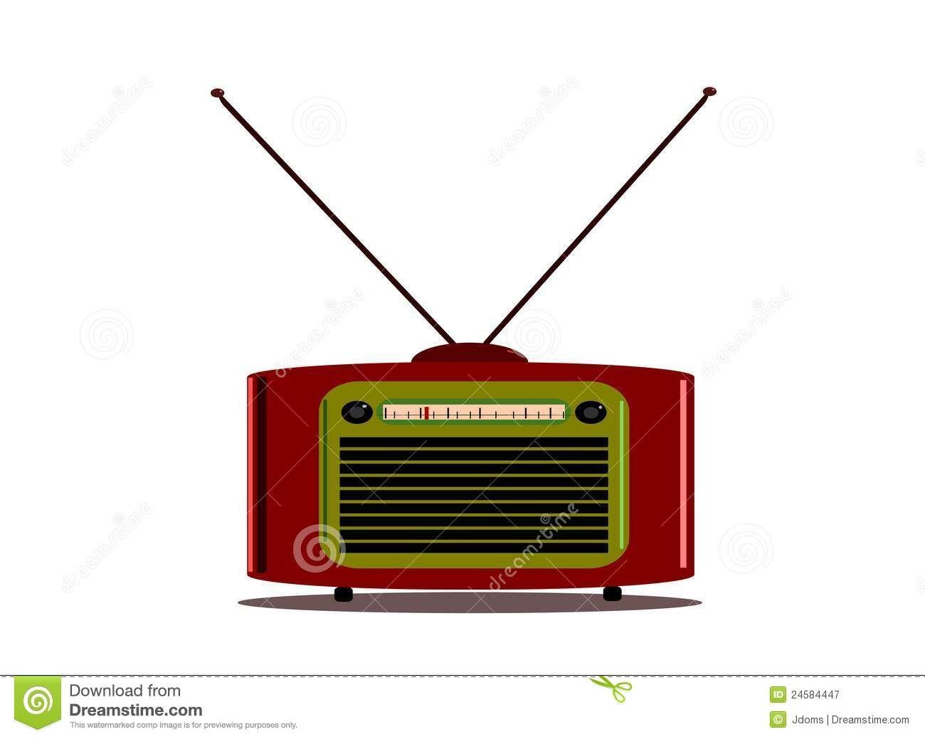 Radio De La Vendimia Con La Antena Fotografía de archivo libre de regalías - Imagen: 24584447