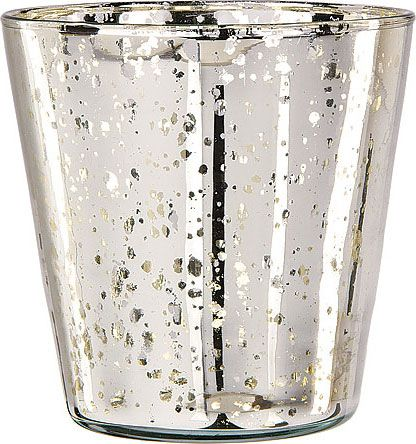 Silver Mercury Glass Vase Cup Design Fall Party Pinterest