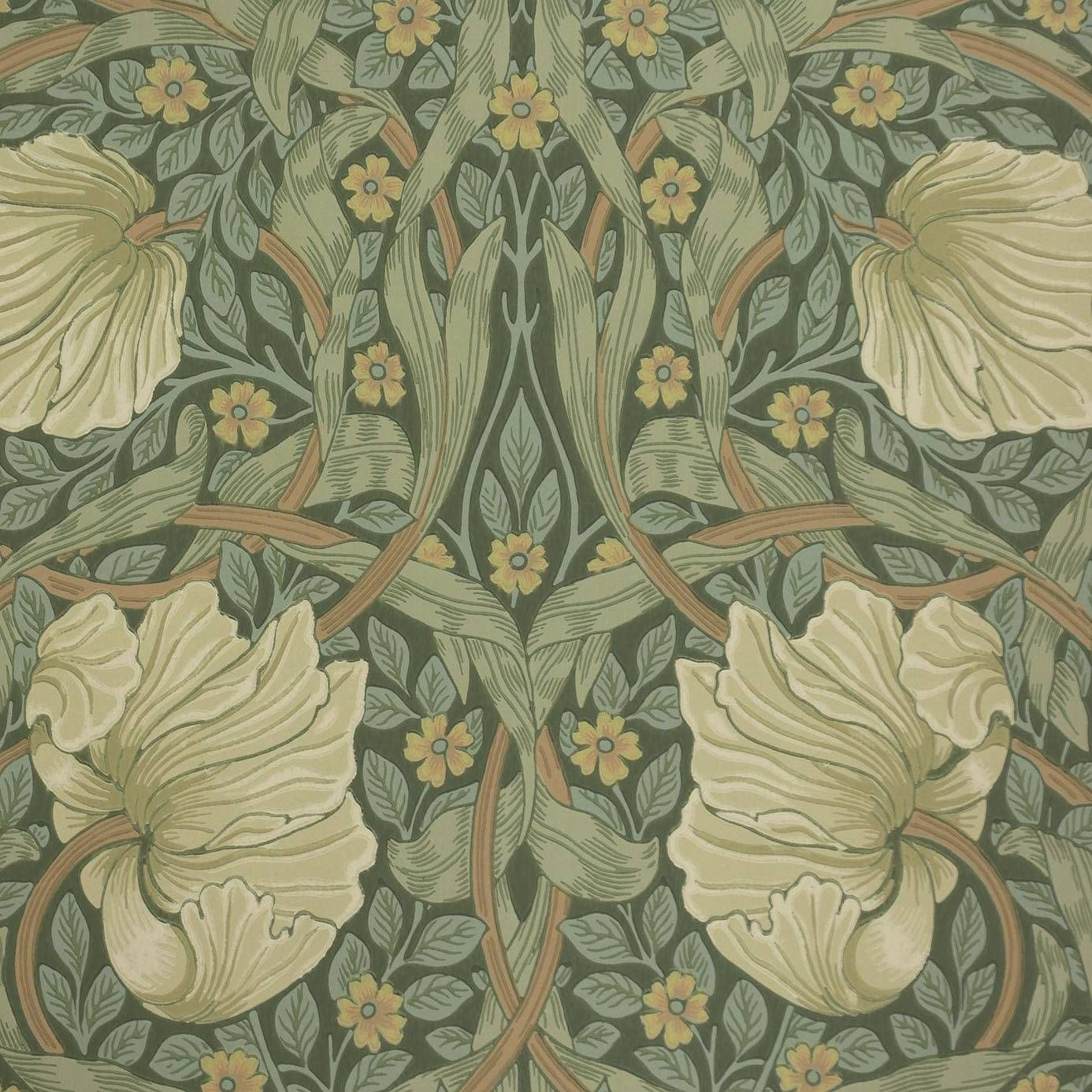 Pimpernel Wallpaper Privet/Slate (210389) William Morris