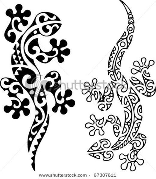картинки цветов и ресунки | Татуировки маори, Ящерица тату ...