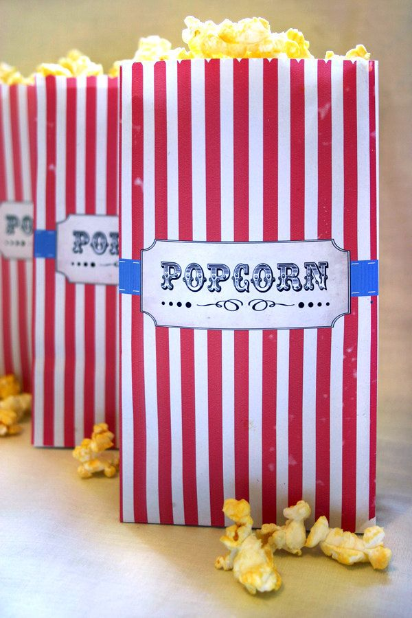 picture about Popcorn Bag Printable named Popcorn Bag Printable Template - Quick Down load - Classic