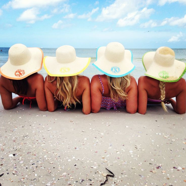 Marleylilly Monogrammed Hats Perfect For Bachelorette Parties A Trip With The S Or Family Vacation We Need These Our Beach