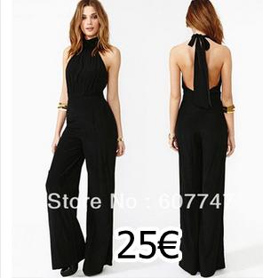 ca2cb50a901b mono largo negro | jumpsuit | Vestidos, Monos largos de vestir y ...