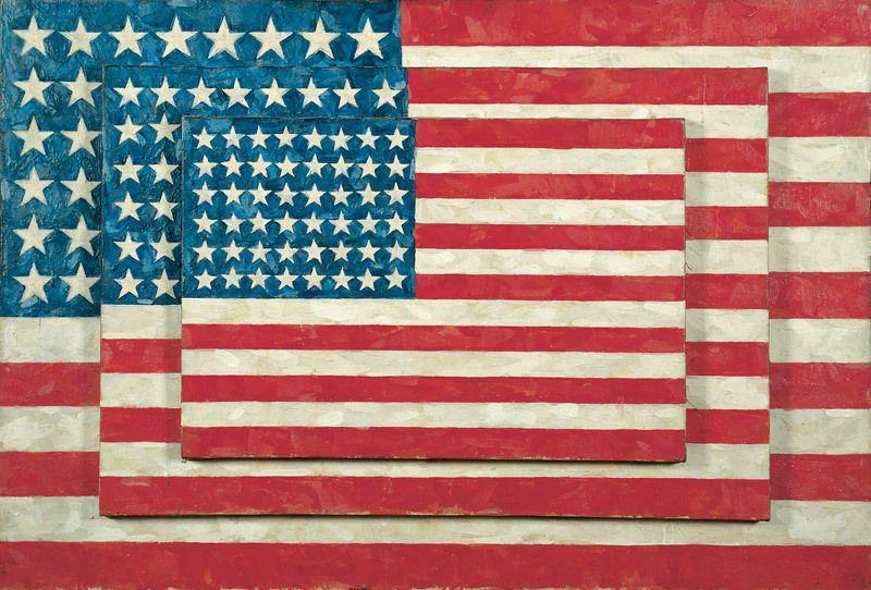 Jasper Johns Three Flags Whitney Museum
