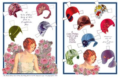 Hats and Hair Paper Dolls #dollhats