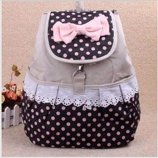 Korean Style Kids Cute Backpacks Teenage Girls Fashion Polka Dot ...