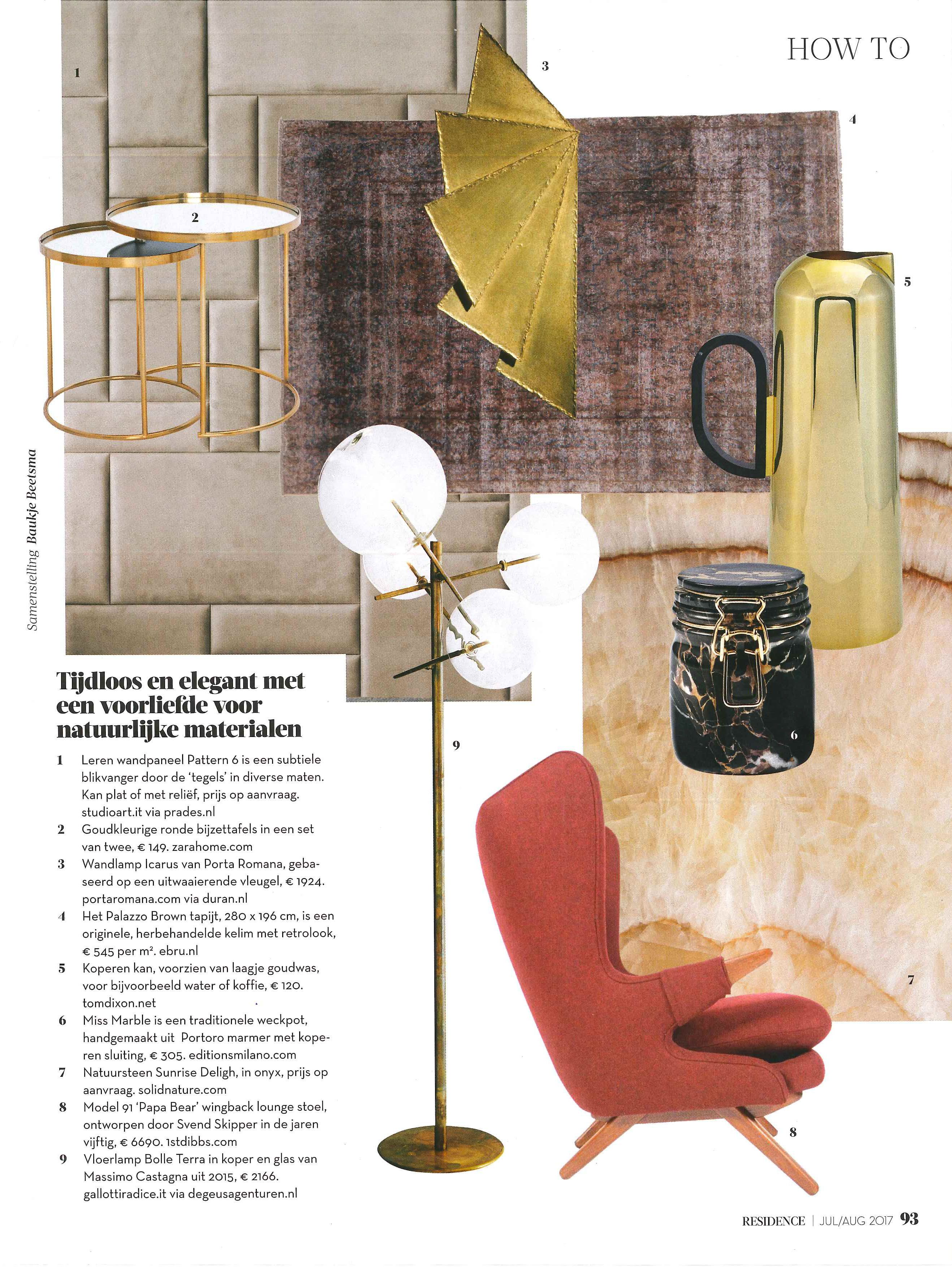 Home decor collage from january 2017 featuring currey company - Icarus Wall Light By Porta Romana In Residence Magazine July August 2017