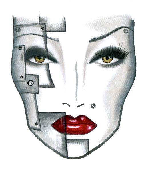 trendy fx makeup with robot mont noir. Black Bedroom Furniture Sets. Home Design Ideas