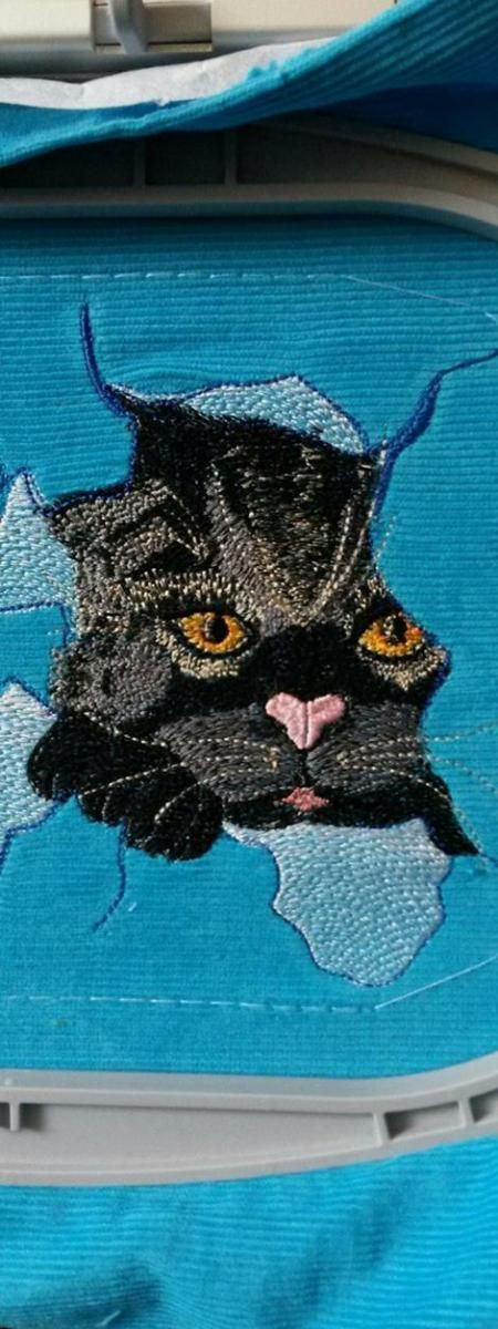 Angry Cat Free Embroidery Design Free Machine Embroidery Designs