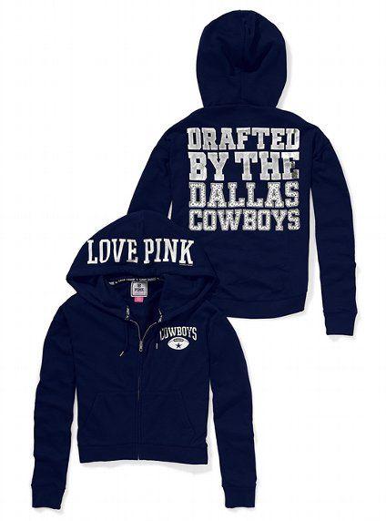 d9334c54 Dallas Cowboys Bling Slouchy Zip Hoodie | Fashion.Hair.Makeup.Nails ...