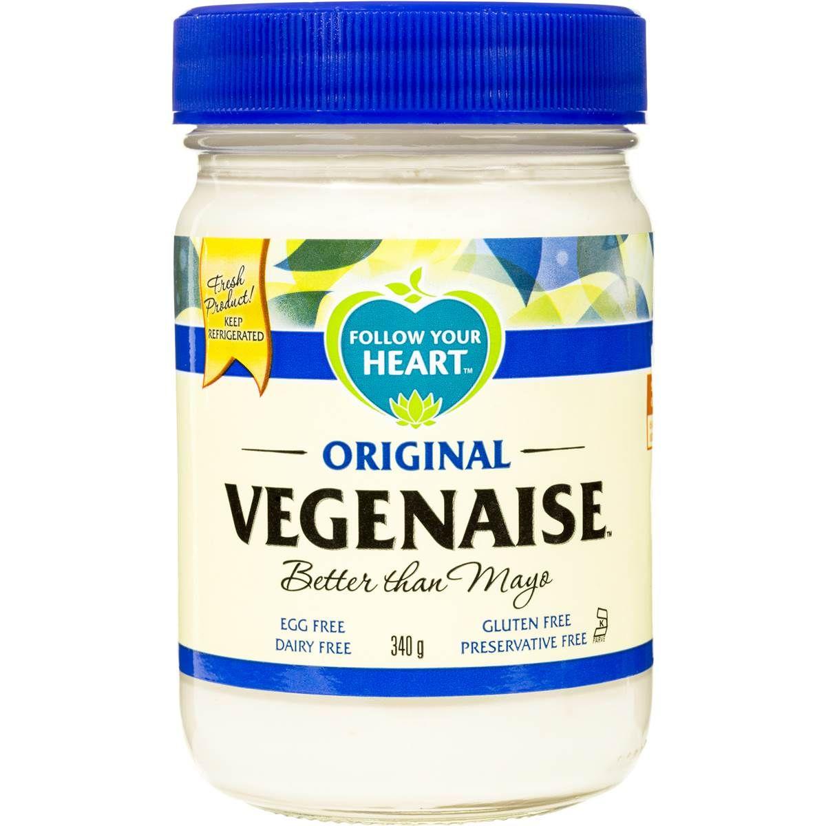 Follow Your Heart Original Vegenaise Image Front Vegan Grocery List Follow Your Heart Vegan Mayo