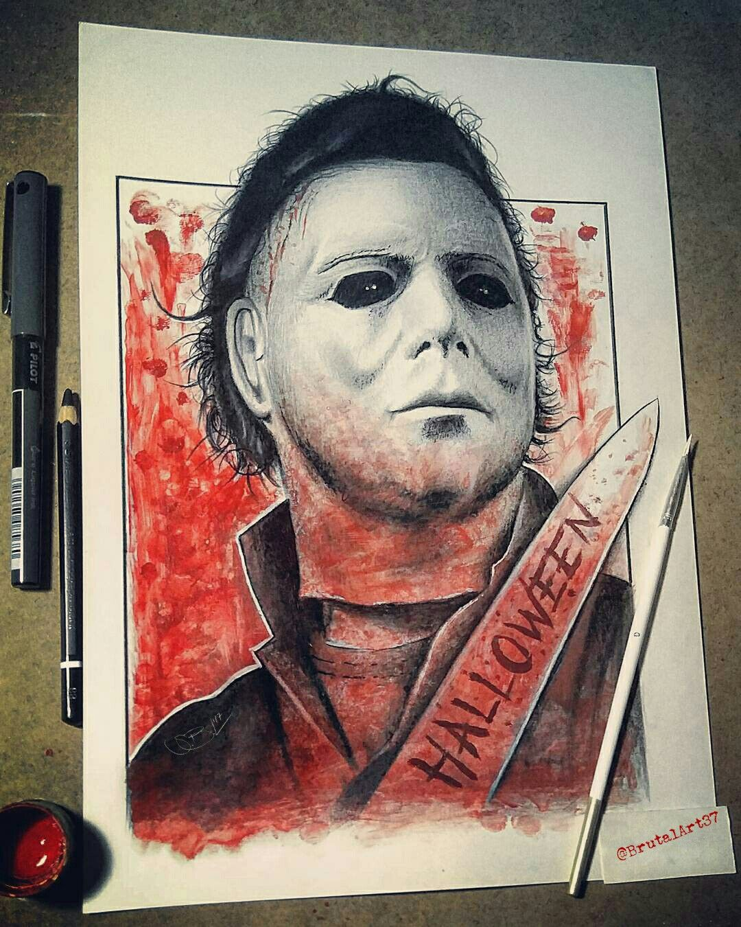 Michael Myers Michael Myers Drawing Michael Myers Art Horror Artwork