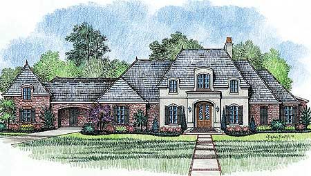 Plan 56343sm Aristocratic European Home Plan Acadian House Plans Country Style House Plans French Country House