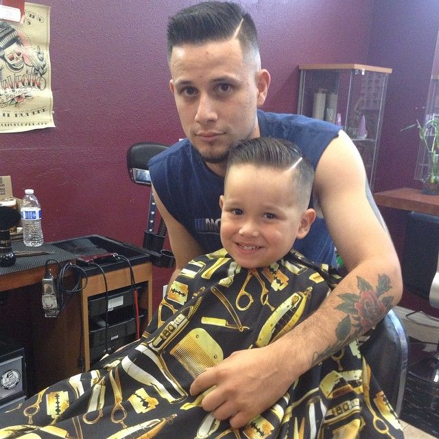 Dad And Son Haircuts Cuties With Quiffs Pinterest Haircuts