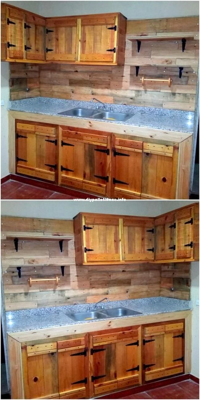 Beautiful Wooden Pallets Kitchen Cabinet Pallet Kitchen Cabinets Wooden Pallet Furniture Pallet Furniture