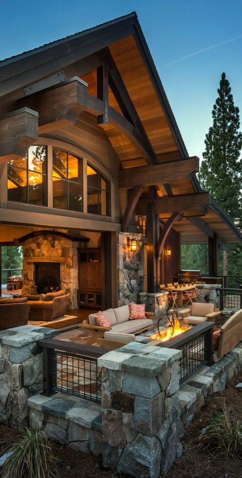 like this bringing inside out ect log home decorating cabana patio also nice outdoor fire pit dream houses pinterest house and rh