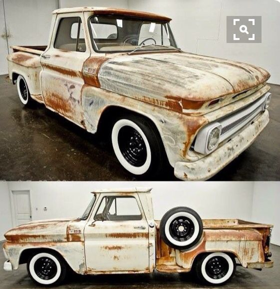 Black Rims White Walls Classic Pickup Trucks Chevy Trucks Trucks
