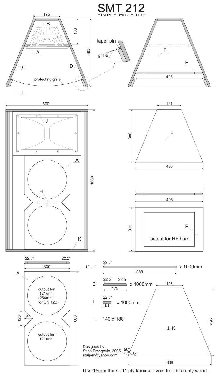 Skema box speaker woofer search results woodworking project ideas - Smt212 Jpeg 750 1280 Speaker Plansspeaker Designdiy