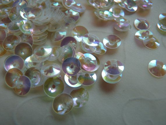 New item  7g of 6 mm Cupped Round Sequins in Pearl by GSboutique, $1.40