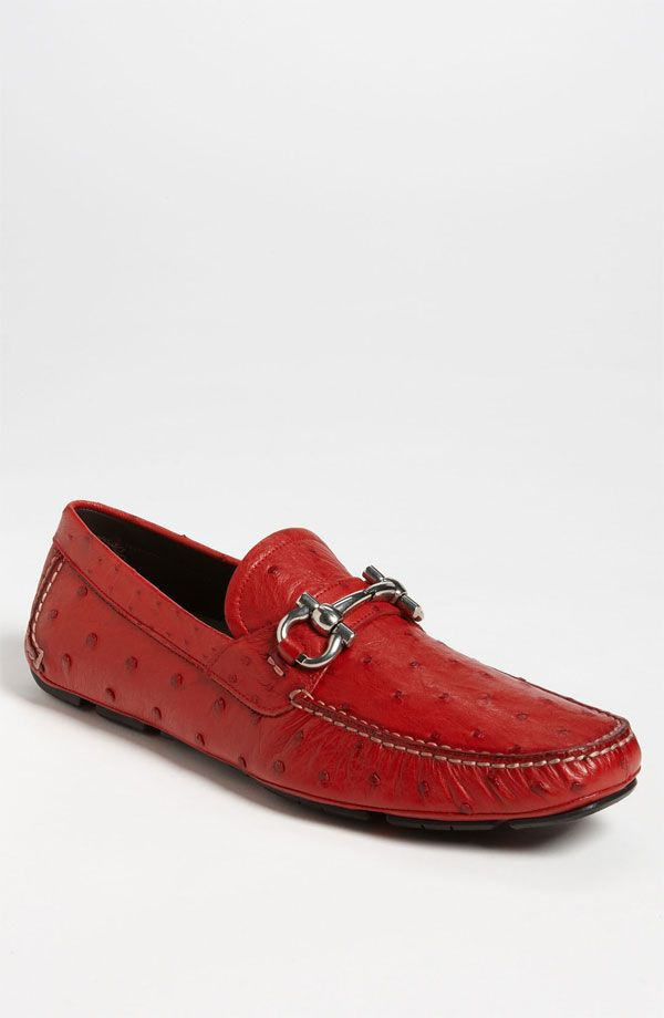 6ce7641a158 Salvatore Ferragamo  Parigi  Ostrich Driving Shoe